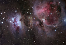 M42 Great Orion Nebula. Astronomy telescope nebula star royalty free stock photos
