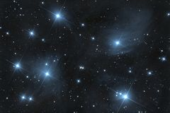 M45 Pleiades Open Cluster Stock Images
