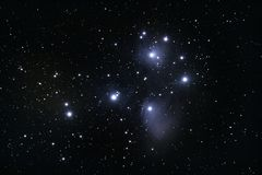 M45 Pleiades Open Cluster Royalty Free Stock Images
