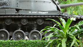 M48 Patton tank in a museum in Saigon (Vietnam) Royalty Free Stock Photography