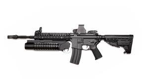 M4A1 aanvalsgeweer met granaatlanceerinrichting Stock Foto