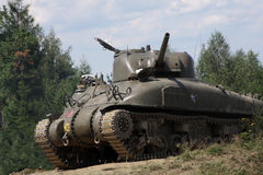 M4A1 Sherman Tank �WW II Royalty Free Stock Images