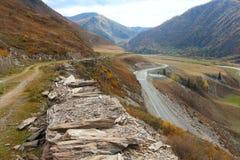 M52 δρόμος από τη Σιβηρία στη Μογγολία στοκ εικόνες
