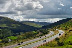 M6 Motorway in Cumbria. A section of the M6 motorway near Shap, Cumbria, England Stock Image