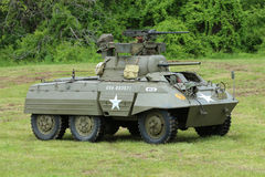 M8 Greyhound armored car from the Museum of American Armor during World War II Encampment Royalty Free Stock Photography