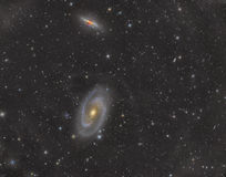 M81 and M82. Bodes galaxy and Cigar Galaxy in constellation Ursa Major stock photography