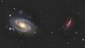 M81 und M82 Stockfotografie
