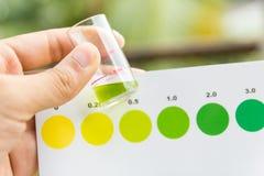 Maß des Ammoniaks im Wasser Lizenzfreies Stockfoto
