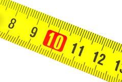 Maßband in den Zentimeter stockbilder