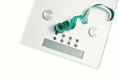 Maßband im Gewicht Lizenzfreie Stockfotografie