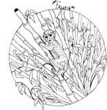 Małpa w bambusowym lesie royalty ilustracja