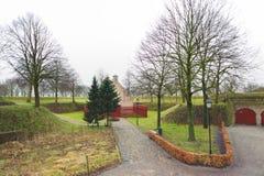 Mały dom w Bourtange, prowincja Groningen holandie zdjęcie royalty free