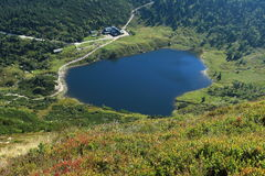 Mały Staw in Giant Mountains. The glacial lake Maly Staw in Giant Mountains, Poland stock photos