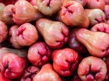 Maçã cor-de-rosa malaio Frutos exóticos, vista superior fotografia de stock royalty free