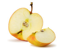 A maçã do corte fotografia de stock