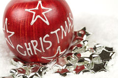 Maçã do Natal Fotos de Stock