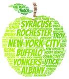 Maçã dos Estados de Nova Iorque Foto de Stock Royalty Free