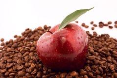 maçã e café Fotos de Stock