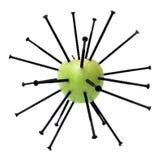 Maçã e parafusos verdes Foto de Stock