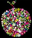 Maçã floral ilustração royalty free