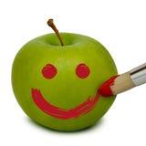 A maçã fresca pintou Foto de Stock
