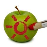 A maçã fresca pintou Imagens de Stock