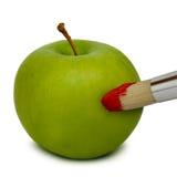 A maçã fresca pintou Imagem de Stock Royalty Free