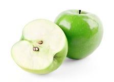 Maçã madura e meio verdes foto de stock royalty free