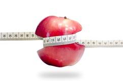 Maçã saudável do emagrecimento do fruto completamente das vitaminas Imagem de Stock