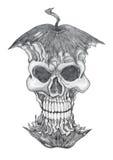 Maçã venenosa, desenho de lápis fotos de stock royalty free