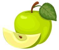 Maçã verde. ilustração stock