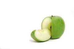 Maçã verde cortada Imagem de Stock Royalty Free