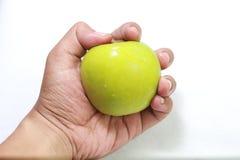 Maçã verde no fundo branco Imagem de Stock Royalty Free