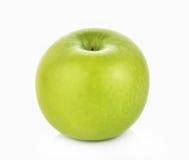 Maçã verde no fundo branco Imagem de Stock