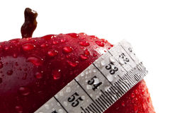 Maçã vermelha como o conceito da dieta saudável Fotografia de Stock Royalty Free