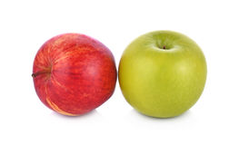 Maçã vermelha e verde no fundo branco Imagem de Stock Royalty Free