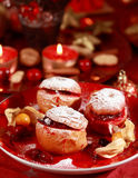 Maçãs cozidas para o Natal Fotos de Stock