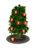 Maçãs da árvore de Apple mordidas ilustração stock