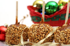 Maçãs de caramelo do feriado Foto de Stock Royalty Free