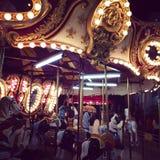 Maçãs de Carmel do algodão doce do carnaval Fotografia de Stock Royalty Free