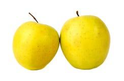 Maçãs do verde amarelo Fotografia de Stock