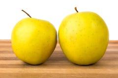 Maçãs do verde amarelo Fotos de Stock Royalty Free