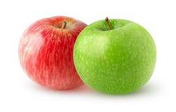 maçãs dobro Fotografia de Stock
