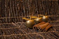 Maçãs douradas de Christmass Imagem de Stock Royalty Free
