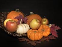 Maçãs e Autumn Leaves das abóboras II Imagem de Stock