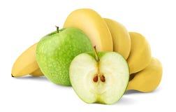 Maçãs e bananas Fotos de Stock