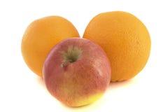 Maçãs e laranjas Fotos de Stock