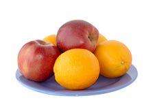 Maçãs e laranjas fotos de stock royalty free