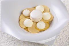 Maçãs e merengue de sobremesa Imagem de Stock Royalty Free