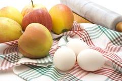 Maçãs e ovos Foto de Stock